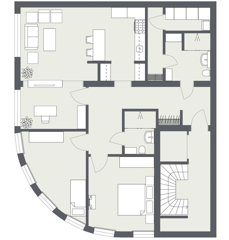 2D Grundriss erstellen | 2D Grundriss vektorisieren | Grundriss erstellen lassen für Exposé