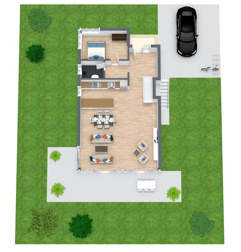 Grundriss erstellen lassen | Immobilien Grundriss digitalisieren lassen