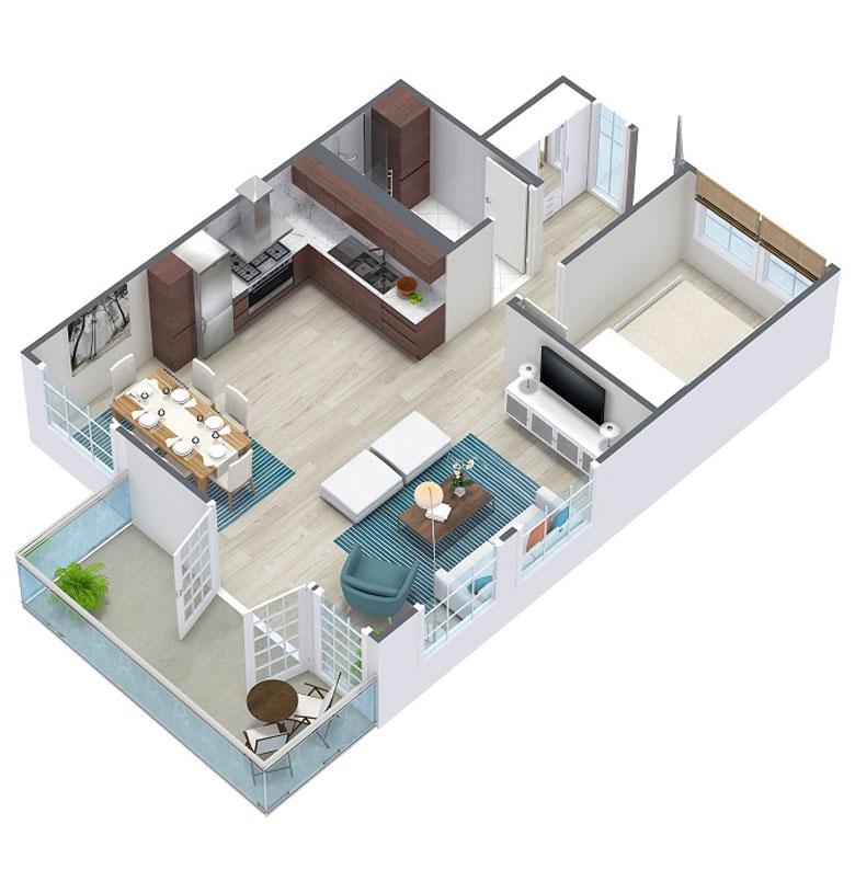 3D Grundrisse Immobilien | 3D Grundriss Visualisierung | 3D Grundrisse erstellen