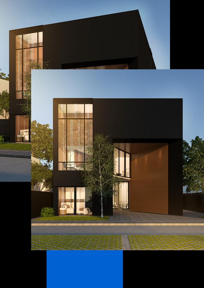 Immobilien Außenansicht | 3D Modell für Exposé | Immobilien Visualisierungen