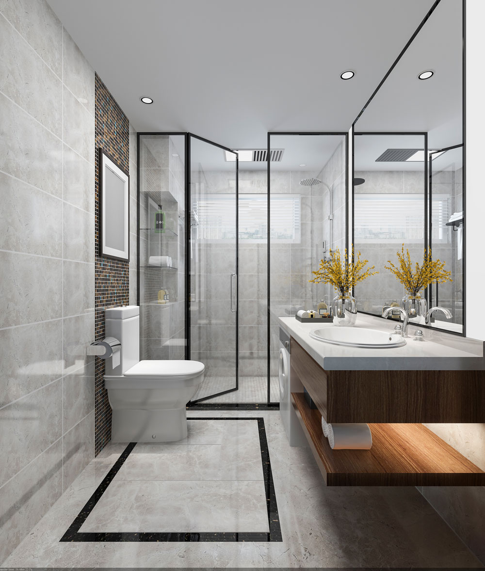 3D Visualisierung Badezimmer | Immobilien 3D Modell | Inneneinrichtung Visualisierung