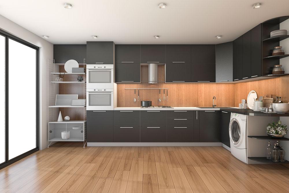 3D Visualisierung Küche | 3D virtuelles Modell der Inneneinrichtung | 3D Rendering Immobilie | 3D Fotos für Neubauprojektierung