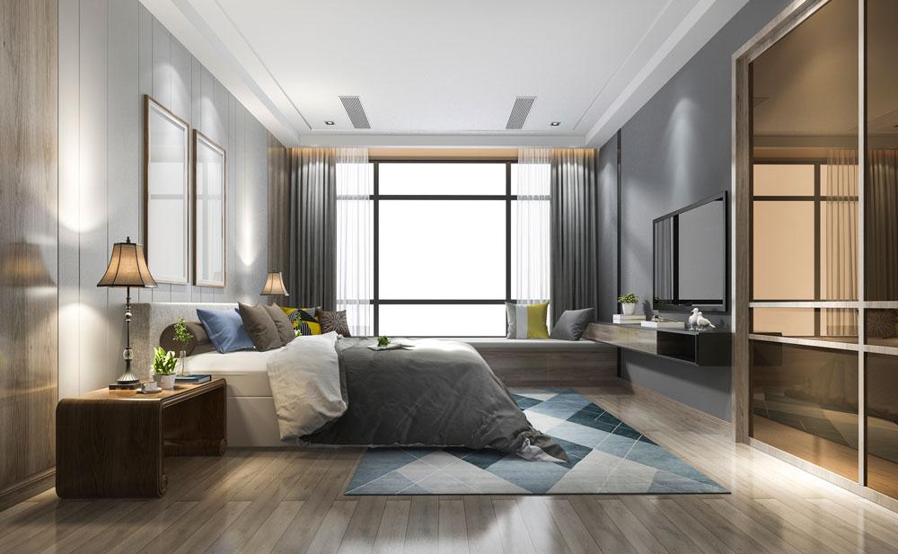 Immobilie Visualisierung in 3D | Schlafzimmer | 3D Inneneinrichtung | Immobilien Ansicht 3D | Neubauprojektierung